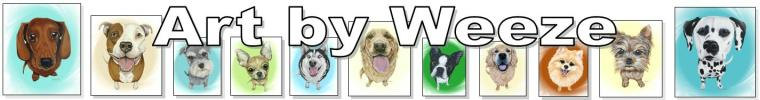 Art by Weeze Etsy Banner Pet Portraits