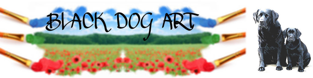 Black Dog Art by Judy Handmade Monthly Etsy