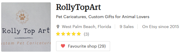 Rolly Top Art Handmade Monthly Etsy Artisan
